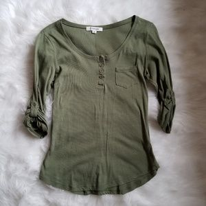 🌹 5 for $20 🌹  Olive Green Henley